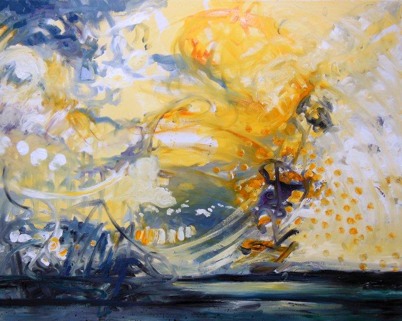 Sonnenhoffnung, öl auf LW, 80 x 120