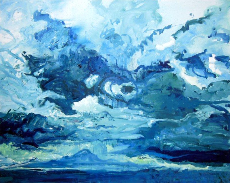 Gewitter in Schwalenberg, Öl auf LW, 80 x 120