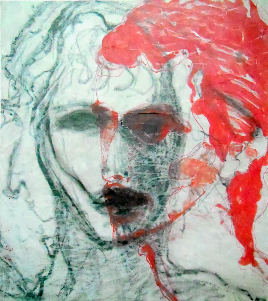 120x110, transparent auf leinwand, tuschen, grafit, 2012