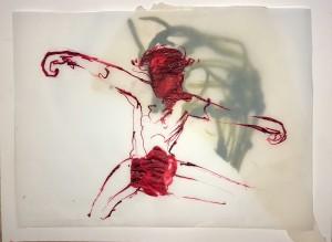 Christus 1 2016 Tusche auf Transparent 30x40