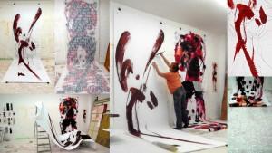 Arbeiten für die Ausstellung in Danzig