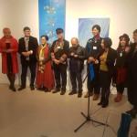 Chinesische und Deutsche Künstler zur Vernissage Kuratorin Ling Luo
